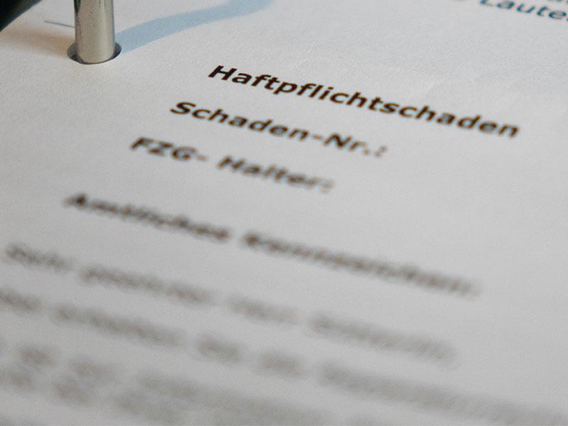 Symbolbild Haftpflichtschaden | Anwalt Verkehrsrecht München