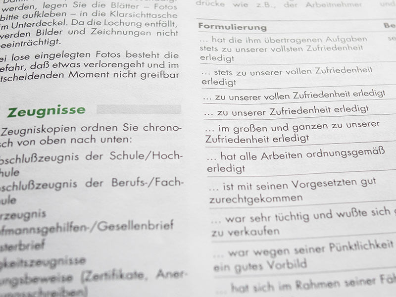 Zeugnis Formulierung Arbeitsrecht | Anwalt Arbeitsrecht München